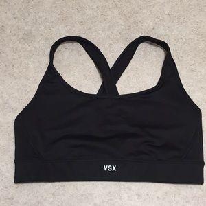 VICTORIA'S SECRET VSX BLACK CRISSCROSSED SPORT BRA